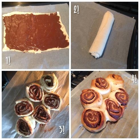 Nutella-cinnamon rolls